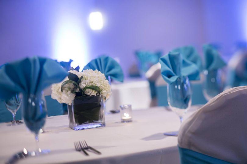 Blue table napkins