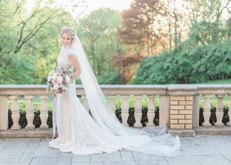 The bride in a stunning dress