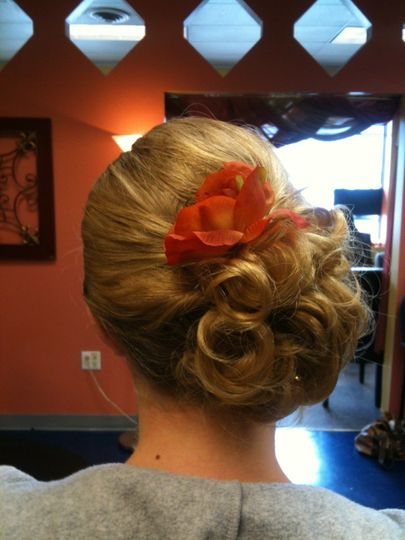 Bridesmaid/prom hairstyle done by Kate