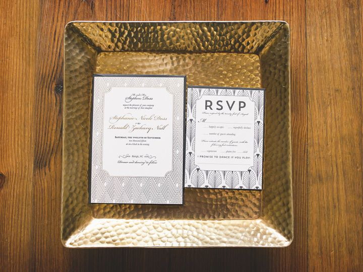 Tmx 1445876679038 1920s Styled Shoot Full Resolution 0014 Cary wedding invitation