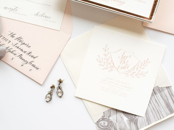 Tmx 1468258380693 Mikkelpaige Oneandonly 2016suites 135 Cary wedding invitation