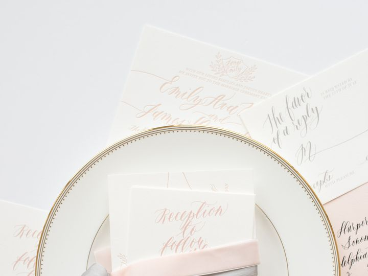 Tmx 1468258447423 Mikkelpaige Oneandonly 2016suites 146 Cary wedding invitation
