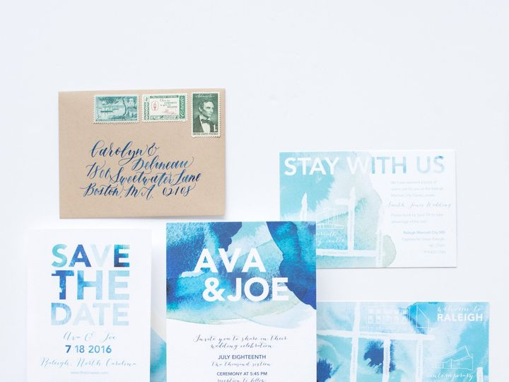 Tmx 1468258484994 Mikkelpaige Oneandonly 2016suites 84 Cary wedding invitation