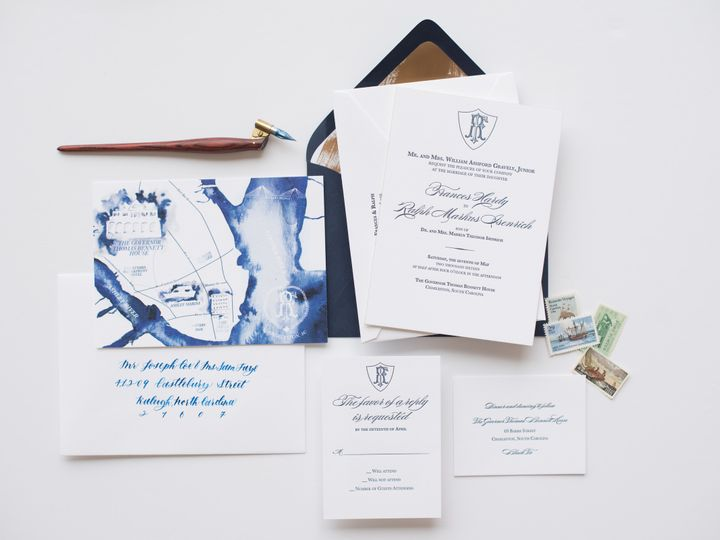 Tmx 1468258749593 Mikkelpaige Oneandonly 2016suites 10 Cary wedding invitation