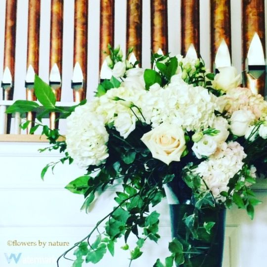 White rose decorations