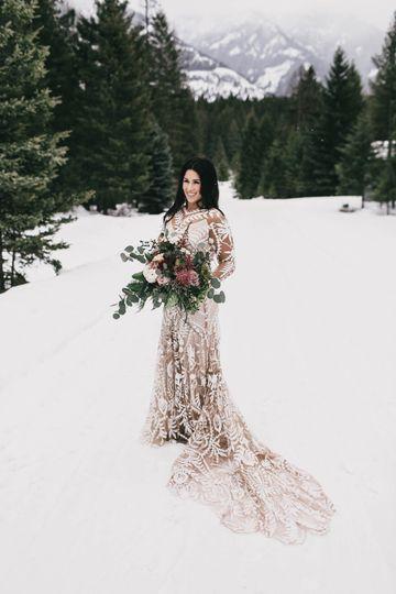 Bigfork Montana Winter Wedding