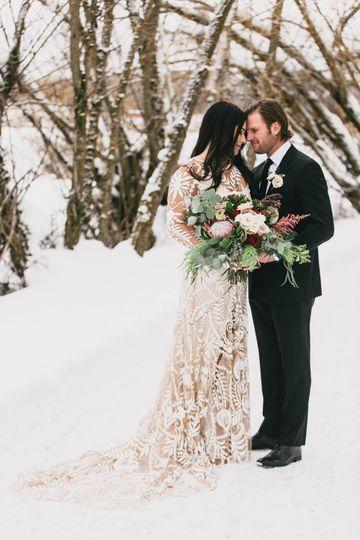 Whitefish MT Winter Wedding