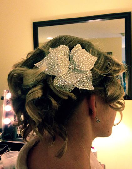 Beaded hair accessory and updo