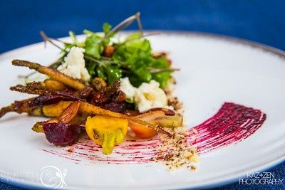 Beet root salad with carrot