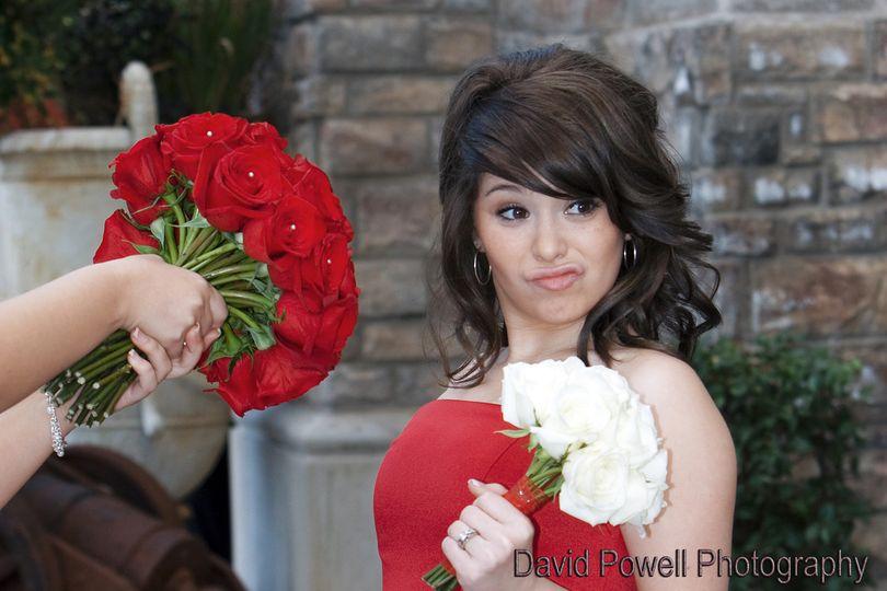 Sassy bridesmaid