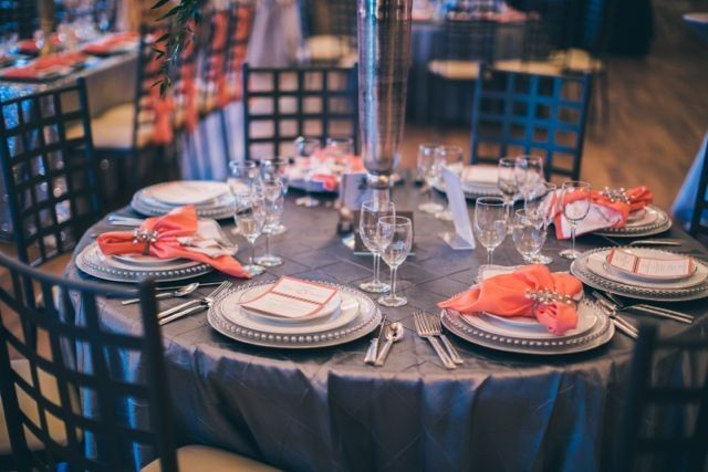 Table, chairs, and place settings