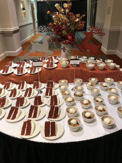 Cake, cut & served by staff