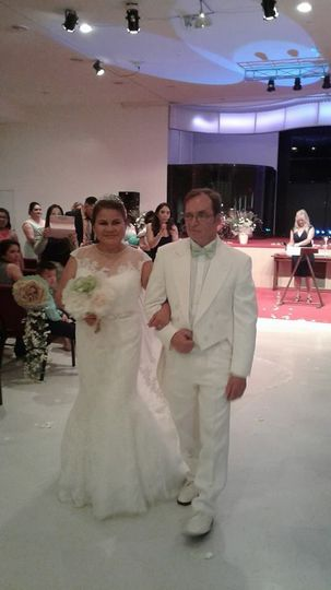 Newlyweds in white