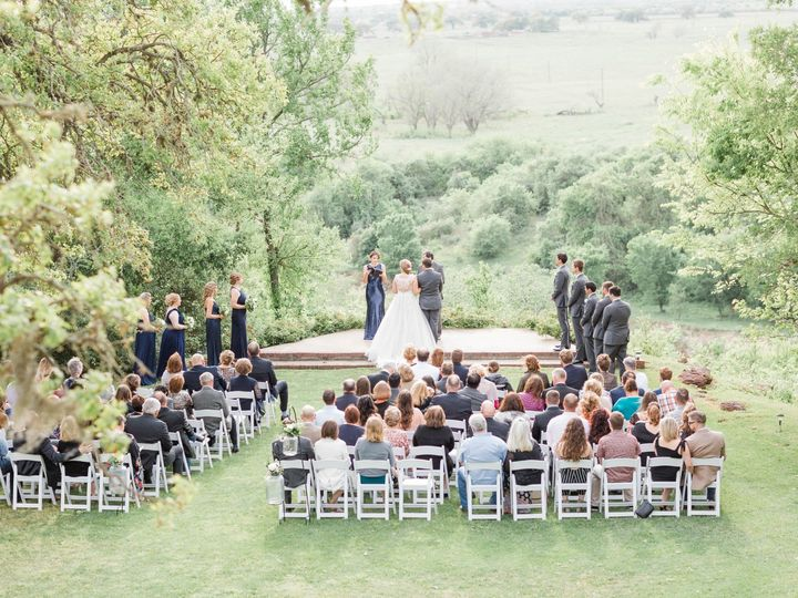 Tmx Ceremony Outside Without Arch View From Balcony 51 325240 1562685642 Bastrop, TX wedding venue