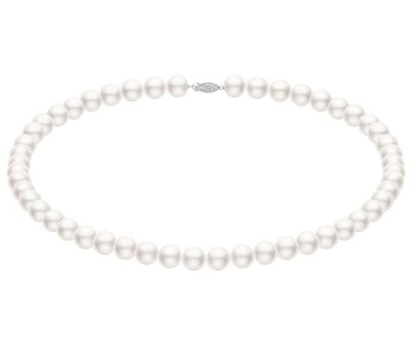 White Akoya Pearl Necklace Strand