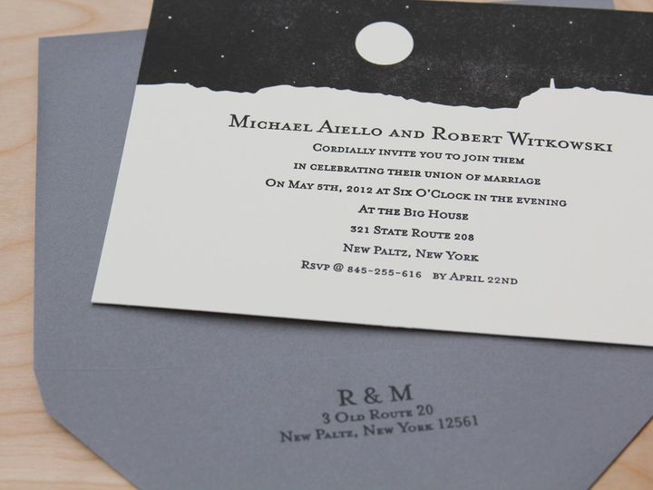 Tmx 1346281696255 RMweddinginvite Kingston, New York wedding invitation