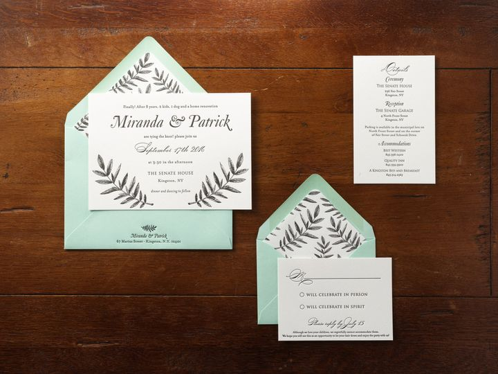 Tmx 1474427758390 Mirandapatfb Kingston, New York wedding invitation