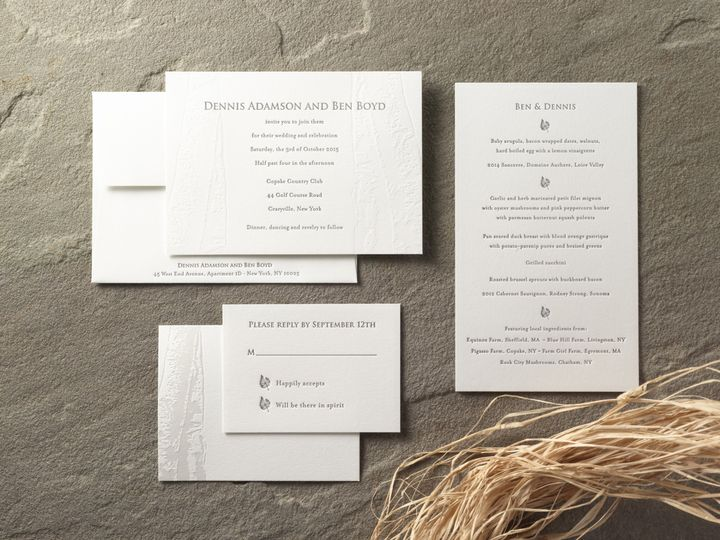 Tmx 1474432854170 Dennisbensuitesmall Kingston, New York wedding invitation