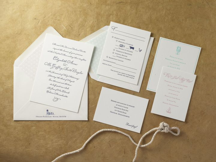 Tmx 1474433356338 Lizgeoffsmall Kingston, New York wedding invitation
