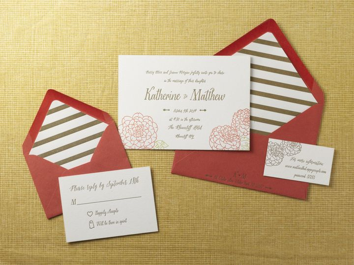 Tmx 1474433880576 Katherine  Matthewsmall Kingston, New York wedding invitation