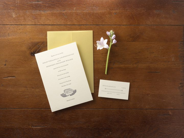 Tmx 1474434362899 Seansmall Kingston, New York wedding invitation