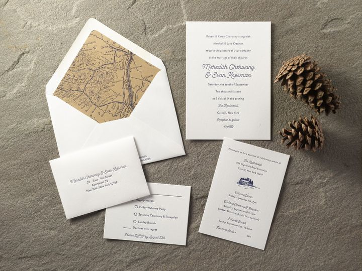 Tmx 1474435318786 Meredith And Evansmall Kingston, New York wedding invitation