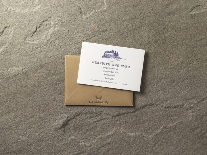 Tmx 1474435479481 Meredith And Evansdsmall Kingston, New York wedding invitation