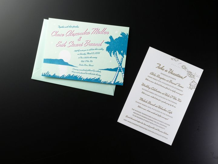 Tmx 1474435804809 Chaseeriksmall Kingston, New York wedding invitation