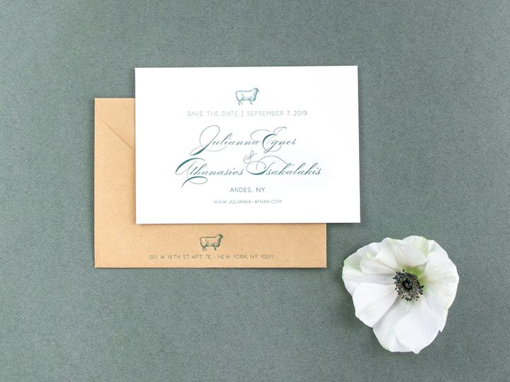 Tmx Wishbone Letterpress Ii 1 51 457240 158436771760931 Kingston, New York wedding invitation