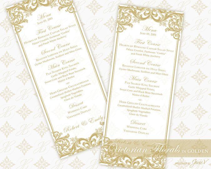 Weddings by janie v invitations cranford nj weddingwire 800x800 1433394113056 menu tea 01 stopboris Image collections