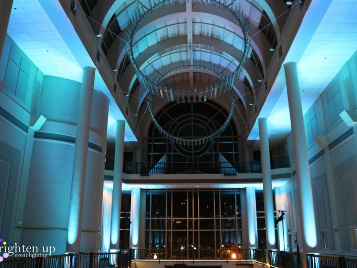 Tmx Tsakopoulos Library Galleria Sacramento Wedding Soft Blue Uplighting Brighten Up Event Lighting 51 928240 Sacramento, California wedding eventproduction