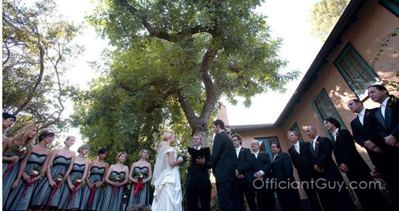 Large weddings are no problem for wedding officiant, Chris Robinson.