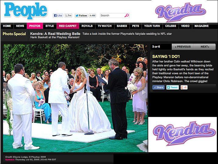 people magazine kendra wedding