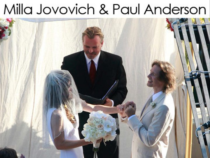 Tmx 1483462229001 Milla Jovovich Paul Anderson Wedding Officiant Long Beach, California wedding officiant