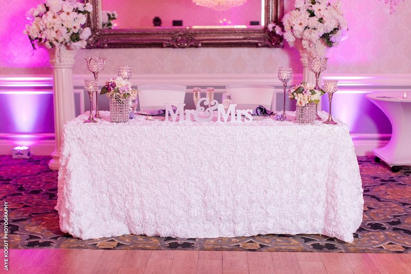 Sweetheart Table Upgrades