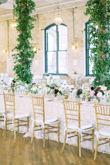 Large installation at reception