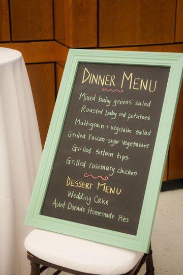 Dinner signage