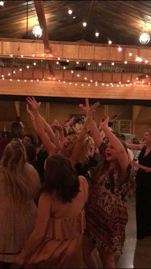 Wedding party in full swing