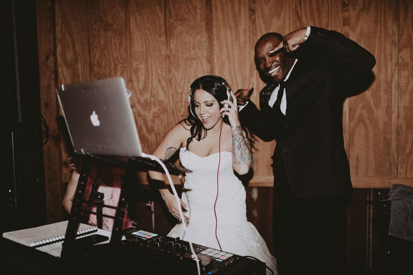 Bride with the  DJ