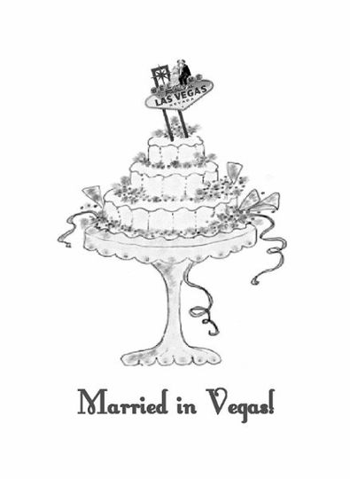 Married in Vegas Wedding Cake