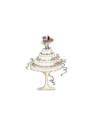 Las Vegas Wedding Cake