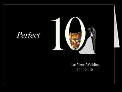 10 10 10 Las Vegas Wedding Card