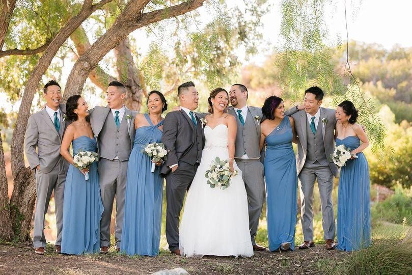 Blush blue dresses