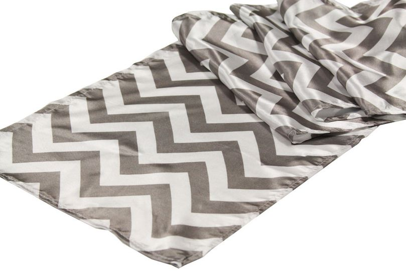 Chevron Table Runner - Gray Also available in Yellow & Orange