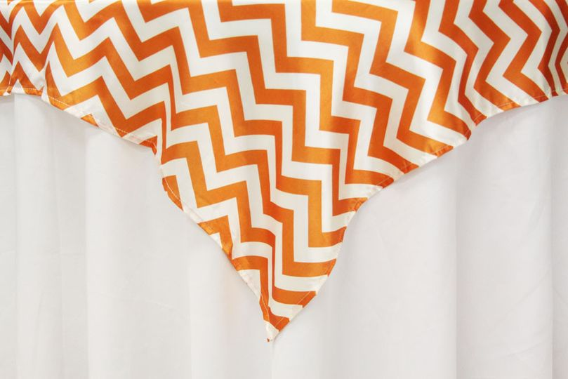 Chevron Orange Table Overlay. Also available in Gray and Yellow. Three Sizes Available.