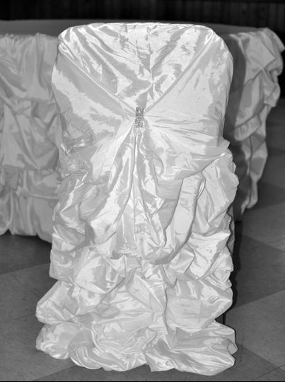 White Couture Banquet Chair Cover