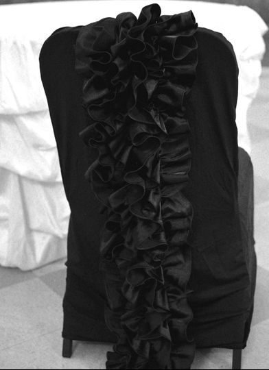 Black Ruffle Couture Banquet Chair Cover
