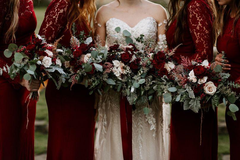 Deep Hued Bridesmaids