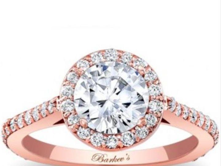 Tmx 1483979958227 Barkevsrosegoldhaloengagementringstyle7933lpgrande Williamsville, NY wedding jewelry