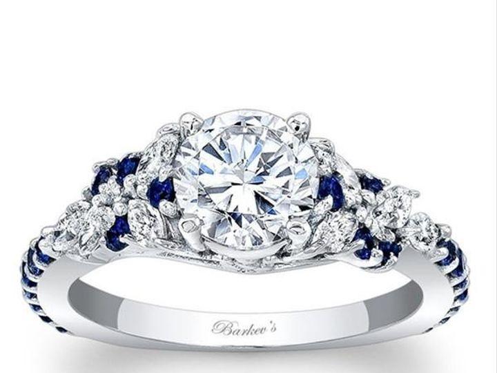 Tmx 1483989190026 7932lbarkevsfloralmarquiseengagementringsapphiregr Williamsville, NY wedding jewelry